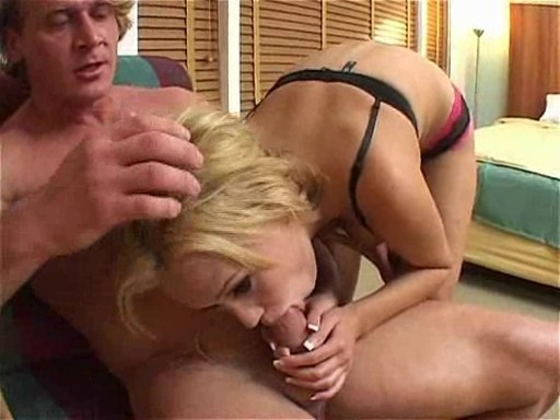 Blonde Carly Parker sucking a big dick and toying her ass