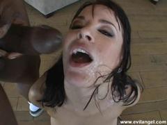 Horny Dana DeArmond gets her face a massive messy cumshots