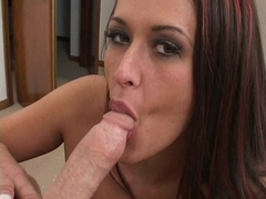 Busty Carmella Bing swallowing and gets her tits fucked