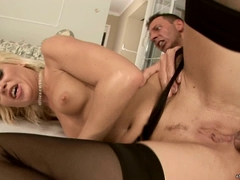 Blond babe Honey Winter gets drilled deep in the asshole