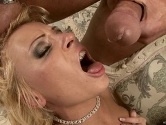 Honey Winter gets pounded deep anally and takes a nasty facial