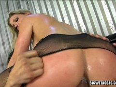 Big tit blonde Avy Scott gets her tight asshole ripped hard