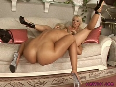 Hot blonde Clara G licking and fisting her horny friends tiny twat