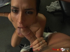 Huge tits blows a hard meat