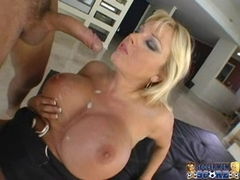 Busty Harmony Bliss gets her pussy nailed hard and takes creamy cumblast