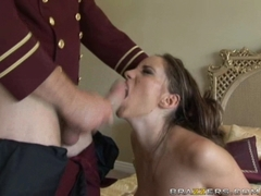 Big boobed babe Kelly Divine deepthroating a massive long hard shaft