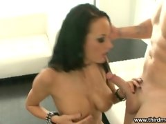 Sexy Alektra Blue gets her wet anal penetrated deep and takes nasty cumspray