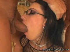 Nikki Rider blows triple hard dicks one at a time
