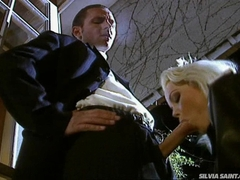 Hot blonde Sylvia Saint sucking and fucking hard