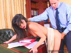 Lucy Lee gets banged hard on her cunt doggyway