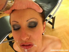 Hot Nikki Rider swallows dicks for a messy facial