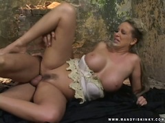 Mandy Bright gettong driiled hard on her tight asshole sideways