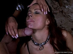 Busty Black Diamond and Mandy Bright gets fucked and jizzed in the face
