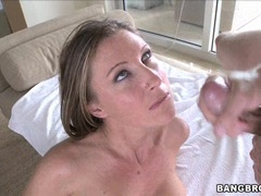 Nasty Devon Lee gets her tight pussy hammered hard and takes juicy cumblast