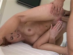 Riley Shy getting hammered on her cunt doggystyle