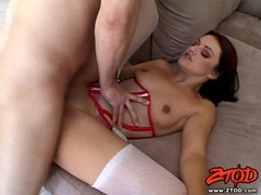 Pussy fucking Naudia Nyce gets cummed and creampied