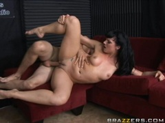 Hot dj Ava Rose gets her tiny pussy pounded hard and takes messy facial