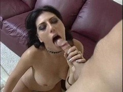 Ass licking busty Makayla Cox sucks cock and gets facialised