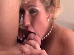 Blonde babe Melissa Black rides a hard prick and gets cummed