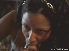 Havana Ginger blows a hard meatpole and gets a warm jizz on her mouth