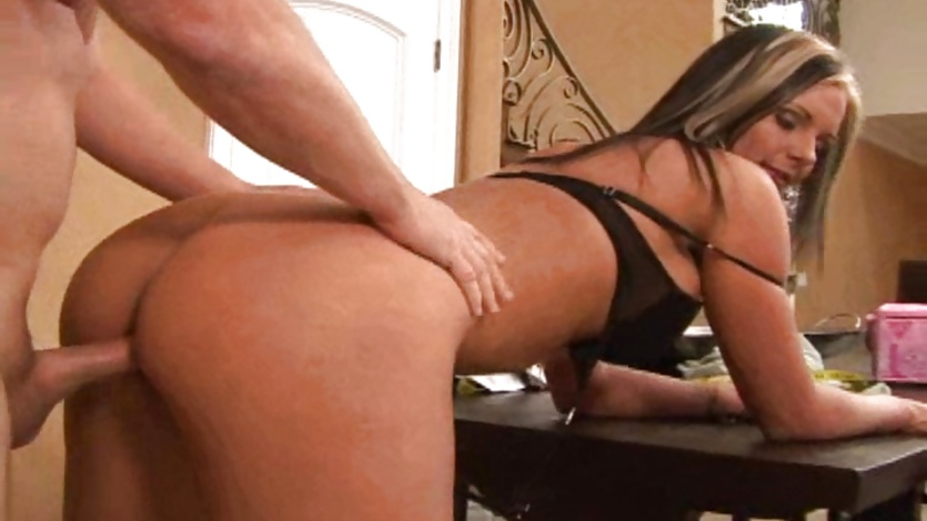 Super hot milf Phoenix Marie gets a hard pussy boning from behind