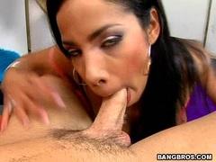 Busty latina Havana Ginger blows a hardrock meatstick