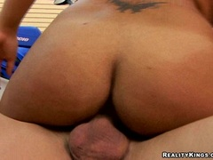Busty latina Havana Ginger getting screwed hard on her cunt by a hard meat cock