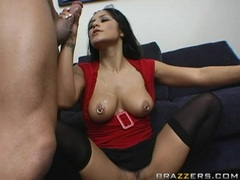 Hottie Jenaveve Jolie gets fucked doggystyle and takes a huge cumblast