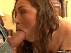 Kristina Rose takes a big hard cock deep in her throat