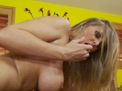 Huge tits milf Julia Ann getting pounded on her cunt doggyway