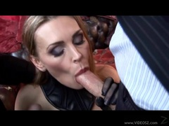 Bitchy whore Tanya Tate fills her warm mouth with an awesome beefy cock