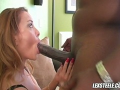 Sizzling hot Janet Mason eagerly takes her lover's dick in her sweet mouth