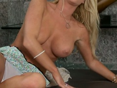 Filthy Tasha Reign reveals those perfect tits to tease every man's attention