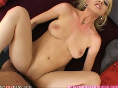 Lusty whore Anita Blue gets her pussy stabbed by a monster rod deep