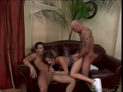 Scorching whore Tory Lane gets throat fucked whilst getting her pussy pounded