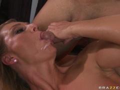 Cum craving whore Brenda James deserves the nice shot of jizz after a hot fuck