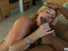 Phyllisha Anne destroys her lusty mouth with her boyfriend's thick black shaft
