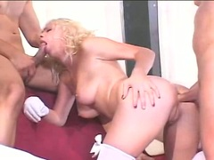 Bitchy hot Missy Monroe gets her ass wrecked while she gets throat fucked