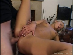 Anal whore Lucy Anne gets her tight asshole stretched by a huge throbbing boner