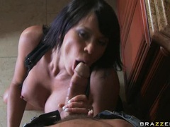 Pornstar Savannah Stern thumps an awesome cock all stiff in her juicy hot mouth