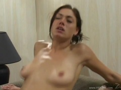 Saucy Amber Ashley gets her tight ass pounded before getting showered with spunk