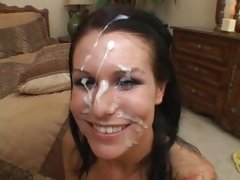Sea J Raw has her veejay vibed as she sucks cock for a spunky spurting