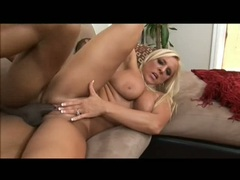 Cock whore Alexis Golden gets pink meat tenderized with huge black bone