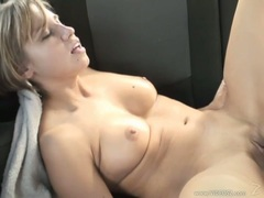 Filthy Tiffany Mynx sucks on a huge dick before getting her twat pulverized