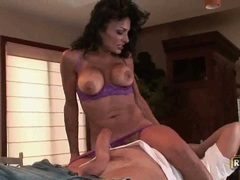 Persia Pele gets meat pop fucking throat before getting in pussy