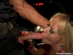 Sizzling Nikki Kane takes no limits blowing an awesome cock in her juicy mouth