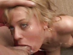 Holly Wellin endures a seriously fierce throating from this cock