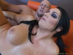 Sizzling Corina Jayden gets throat fucked before taking a hard pussy pounding