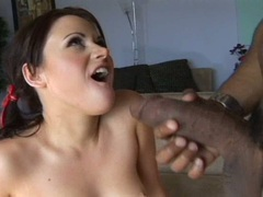 Sindee Jennings gets her slutty sweet twat cracked hard by a black boner