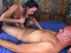 Olivia Saint rodeos herself a large cock pole fucking wildly